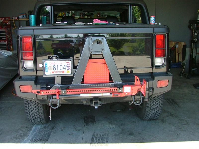 hummer x forum view topic spare tire carrier figured out. Black Bedroom Furniture Sets. Home Design Ideas